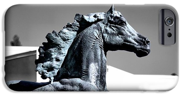 Horse iPhone Cases - Horse Of A Different Color iPhone Case by Scott Hill