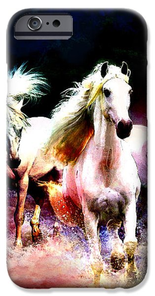 Horse paintings 002 iPhone Case by Catf
