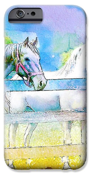 Horse Paintings 008 iPhone Case by Catf