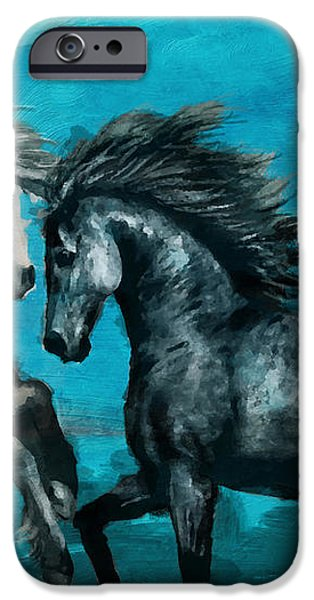 Horse paintings 011 iPhone Case by Catf