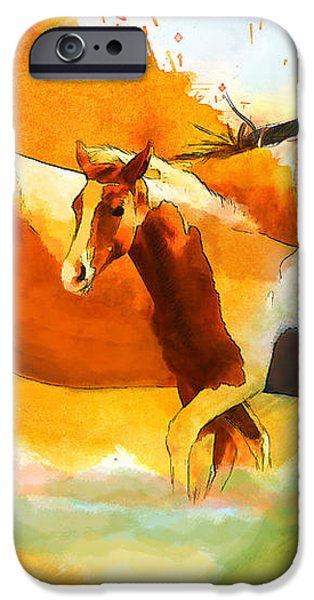 Horse Paintings 013 iPhone Case by Catf