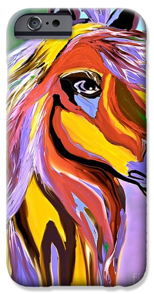 Horse iPhone Cases - Horse Posing Pretty 2 iPhone Case by Saundra Myles