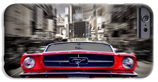 Ford Mustang iPhone Cases - Horse Power iPhone Case by Mark Rogan