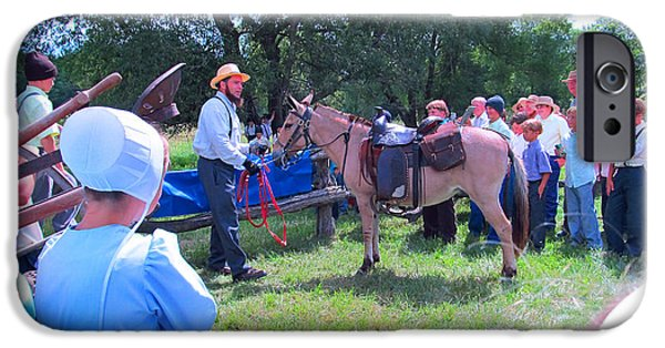 Amish Community Photographs iPhone Cases - Horse Show iPhone Case by Tina M Wenger