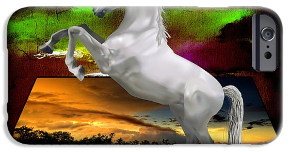 Horses iPhone Cases - Horse Tale iPhone Case by Marvin Blaine
