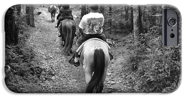 Horse Bit iPhone Cases - Horse Trail iPhone Case by Frozen in Time Fine Art Photography