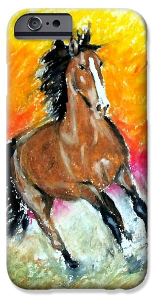 Buy Pastels iPhone Cases - Horse Two iPhone Case by Marcello Cicchini