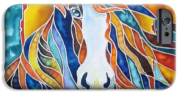 Wild Animals Tapestries - Textiles iPhone Cases - Horse iPhone Case by Violetta Kurbanova