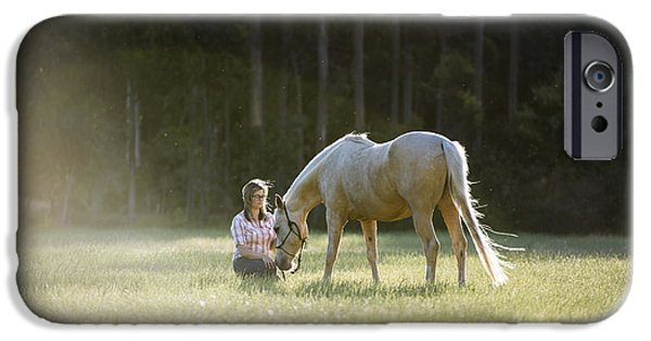Bonding iPhone Cases - Horse Whisperer iPhone Case by Joe Wigdahl