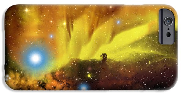 Escape iPhone Cases - Horsehead Nebula iPhone Case by Corey Ford