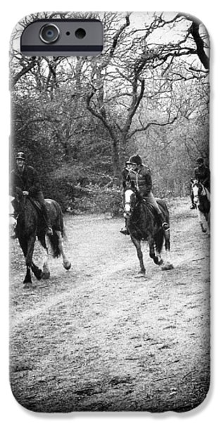 Wimbledon Photographs iPhone Cases - Horses Galloping iPhone Case by David Durham