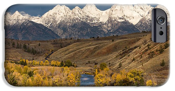 Fed iPhone Cases - Horses on the Gros Ventre River iPhone Case by Kathleen Bishop