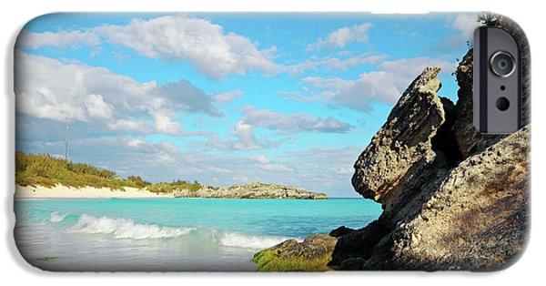 Bermudas iPhone Cases - Horseshoe Bay in Bermuda iPhone Case by Charline Xia