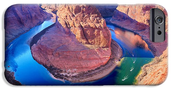 Glen Canyon iPhone Cases - Horseshoe Bend iPhone Case by Edwin Verin