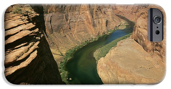 River View iPhone Cases - Horseshoe Bend Of Colorado River, Page iPhone Case by Tips Images