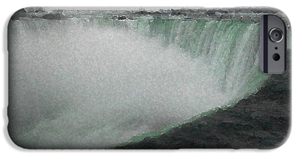 Mist iPhone Cases - Horseshoe Falls in Winter iPhone Case by Richard Andrews