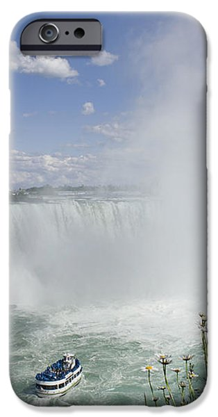 Horseshoe Falls With Maid Of The Mist iPhone Case by Peter Mintz