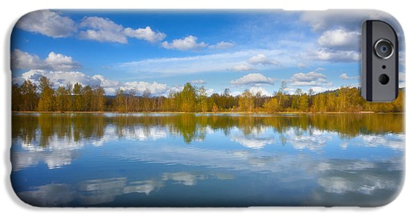 Tree Art Print iPhone Cases - Horseshoe Lake Reflections iPhone Case by Darren  White