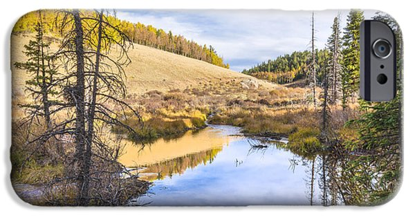 Beaver Lake iPhone Cases - Horsethief Creek Beaver Pond - Cripple Creek Colorado iPhone Case by Brian Harig