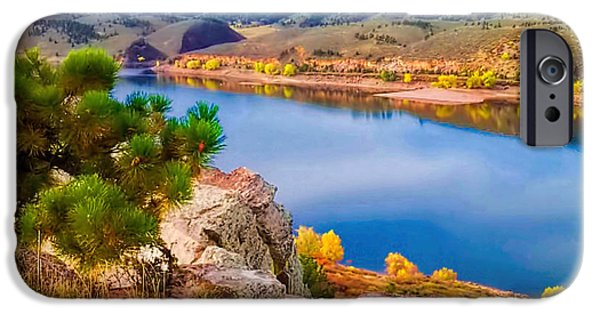 Fort Collins Photographs iPhone Cases - Horsetooth Lake Overlook iPhone Case by Jon Burch Photography