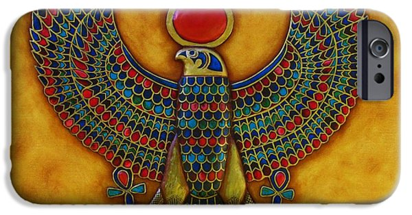 Horus iPhone Cases - Horus iPhone Case by Joseph Sonday