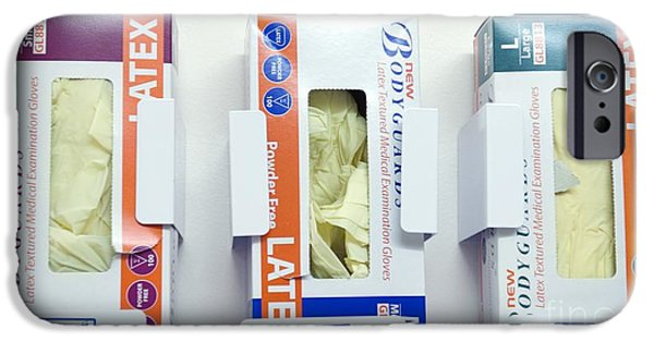 Three Sizes iPhone Cases - Hospital Latex Gloves iPhone Case by Leeds Teaching Hospitals NHS Trust