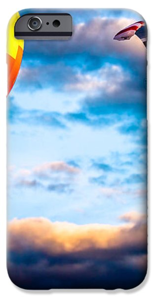 Hot Air Balloon and Powered Parachute iPhone Case by Bob Orsillo
