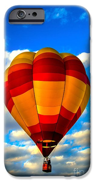 Colorado River Crossing iPhone Cases - Hot Air Balloon at Colorado River Crossing iPhone Case by Robert Bales
