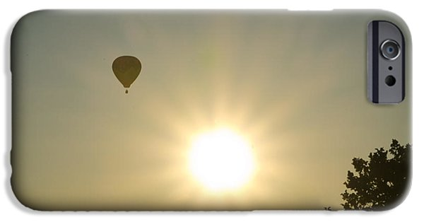 Hot Air Balloon iPhone Cases - Hot Air Balloon at Sunrise iPhone Case by Bill Cannon