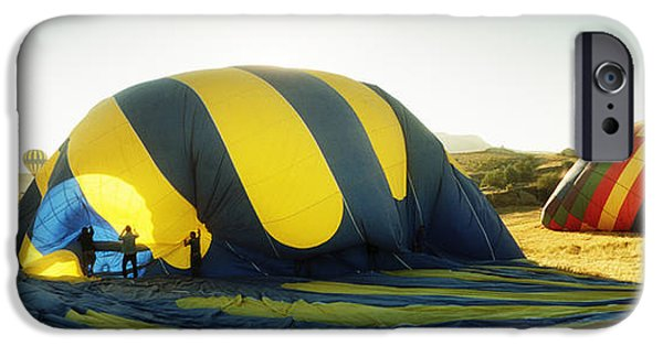 Hot Air Balloon iPhone Cases - Hot Air Balloon Being Deflated iPhone Case by Panoramic Images