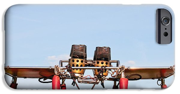 Aeronautical iPhone Cases - Hot air balloon burners iPhone Case by Tom Gowanlock