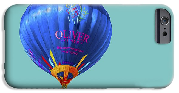 Hot Air Balloon iPhone Cases - Hot AIr Balloon Digitally Painted 3 iPhone Case by David Haskett