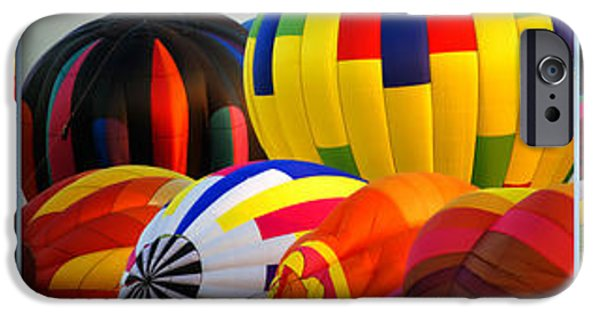 Hot Air Balloon iPhone Cases - Hot Air Balloon Festival 3 Panel Composite iPhone Case by Thomas Woolworth
