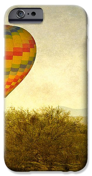 Hot Air Balloon Flight over the Southwest Desert Fine Art Print  iPhone Case by James BO  Insogna