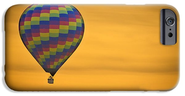 Hot Air Balloon iPhone Cases - Hot Air Balloon Golden Flight iPhone Case by James BO  Insogna