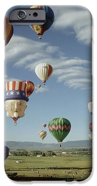 Hot Air Balloon iPhone Case by Jim Steinberg