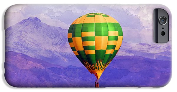 Above iPhone Cases - Hot Air Balloon iPhone Case by Juli Scalzi