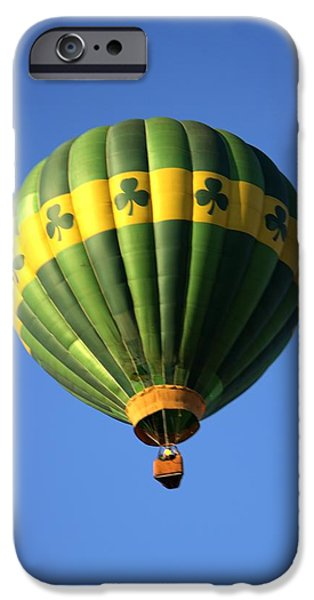Balloon Vendor iPhone Cases - Hot Air Balloon Launch iPhone Case by Geraldine Scull