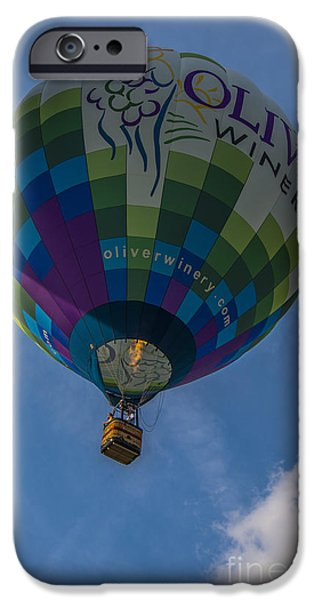 Southern Indiana iPhone Cases - Hot Air Balloon OW iPhone Case by David Haskett