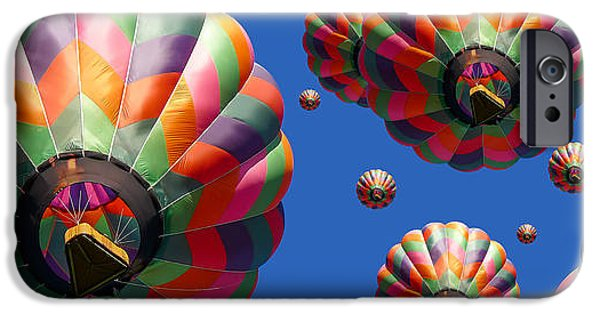 Escape iPhone Cases - Hot Air Balloon Panoramic iPhone Case by Edward Fielding