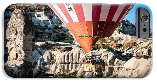Morning iPhone Cases - Hot air balloon ride iPhone Case by Kim Pin Tan