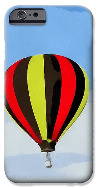 Technology Paintings iPhone Cases - Hot Air Balloon Taking Off iPhone Case by Dan Sproul