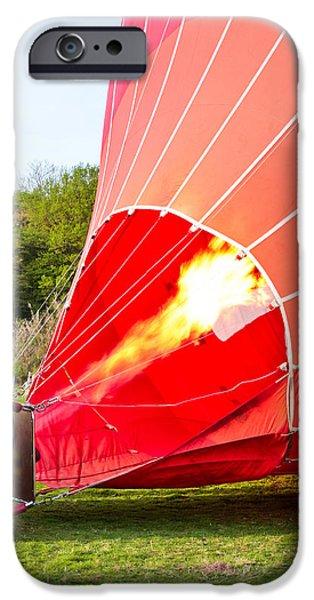 Hot air balloon iPhone Case by Tom Gowanlock