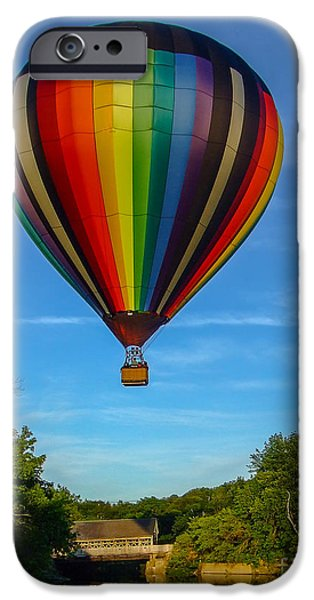 Hot Air Balloon iPhone Cases - Hot Air Balloon Woodstock Vermont iPhone Case by Edward Fielding