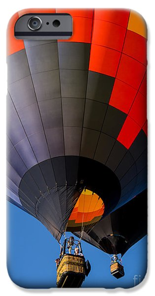 Hot Air Balloon iPhone Cases - Hot Air Ballooning iPhone Case by Edward Fielding