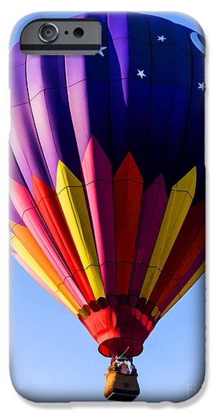 Hot Air Balloon iPhone Cases - Hot Air Ballooning in Vermont iPhone Case by Edward Fielding