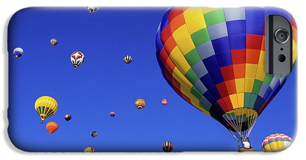 Hot Air Balloon iPhone Cases - Hot Air Balloons 15 iPhone Case by Bob Christopher
