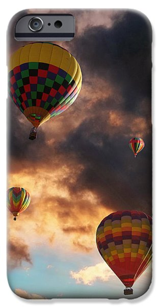 Hot Air Balloon iPhone Cases - Hot Air Balloons - Chasing The Horizon iPhone Case by Glenn McCarthy