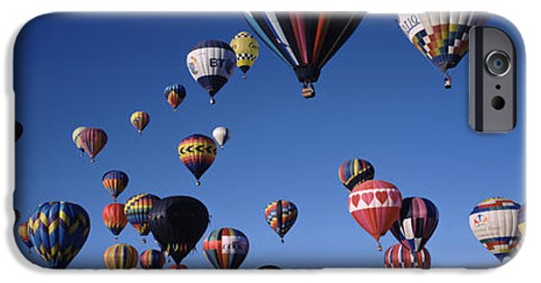 Hot Air Balloon iPhone Cases - Hot Air Balloons Floating In Sky iPhone Case by Panoramic Images