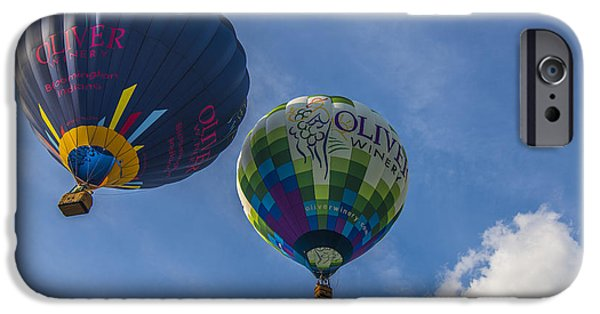 Hot Air Balloon iPhone Cases - Hot Air Balloons OW 7 iPhone Case by David Haskett
